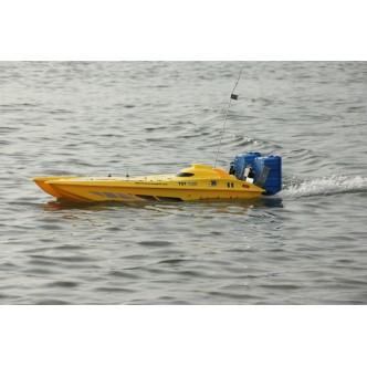 Catamaran de nadit cu 2 cuve (galben)